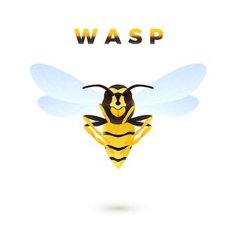Wasp cartoon afbeelding geïsoleerd op een witte achtergrond