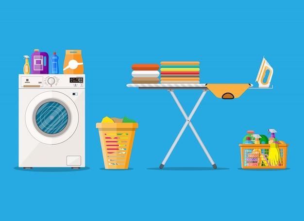 Wasruimte met wasmachine