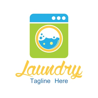 Wasserij logo met tekstruimte voor uw slogan