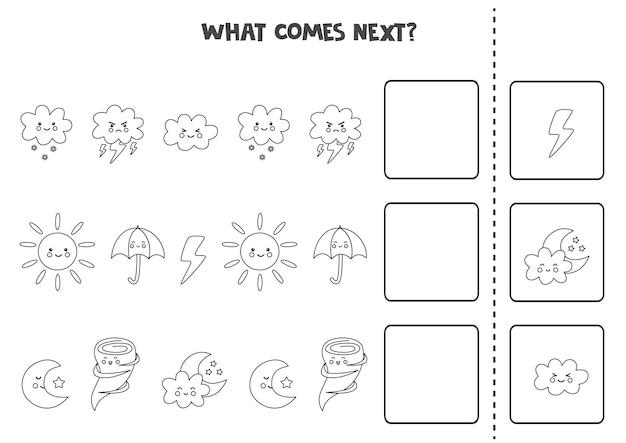 Wat komt het volgende spel met zwart-witte weerelementen.