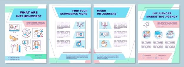 Wat zijn influencers-brochuresjabloon
