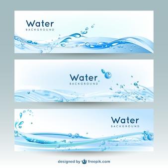 Water banner achtergronden
