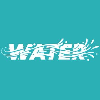 Water belettering woord.