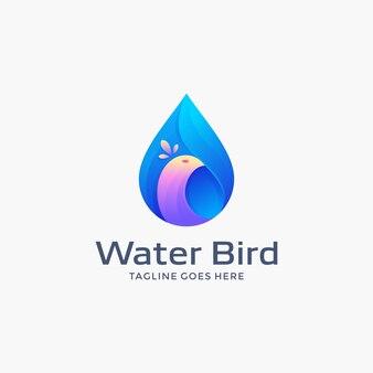 Water bird logo ontwerpsjabloon
