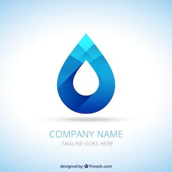 Water druppel logo