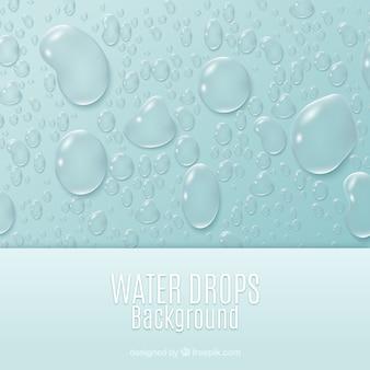Water druppels achtergrond in realistische stijl Gratis Vector