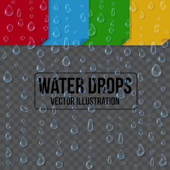 Water druppels op een witte achtergrond