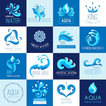 Water emblemen set