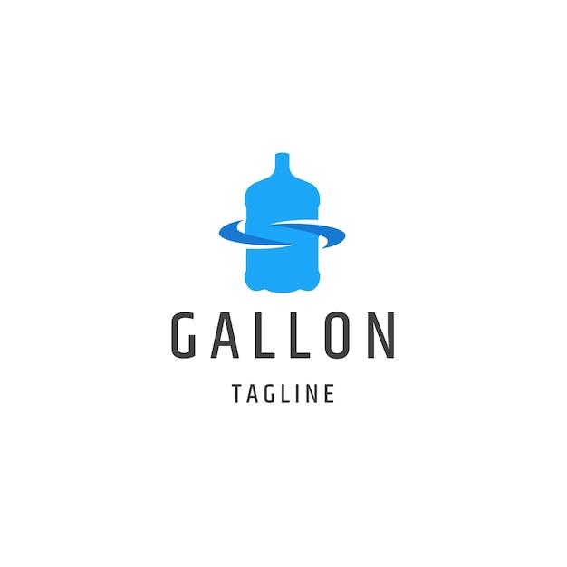 Water gallon logo pictogram ontwerp sjabloon platte vector