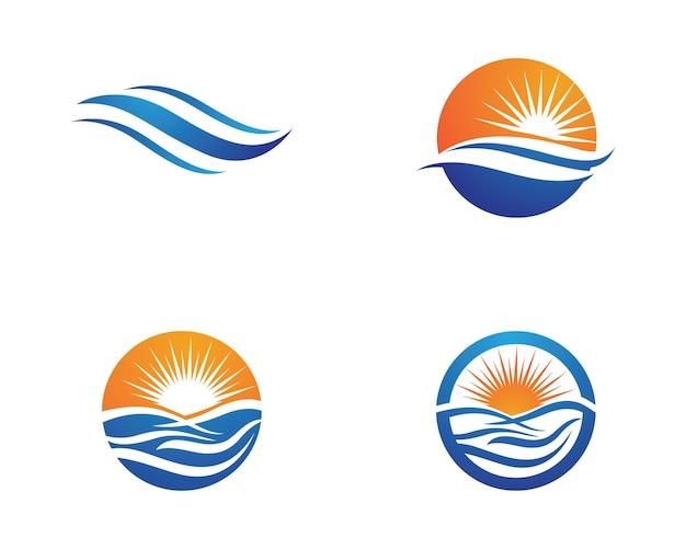 Water golf logo sjabloon vector illustratie ontwerp