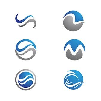 Water golf pictogram vector illustratie ontwerpsjabloon
