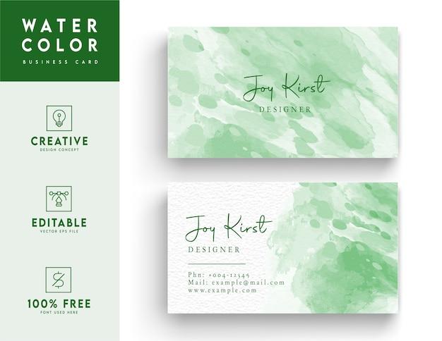 Water kleur abstract stijl achtergrondontwerp. visitekaartje ontwerp.