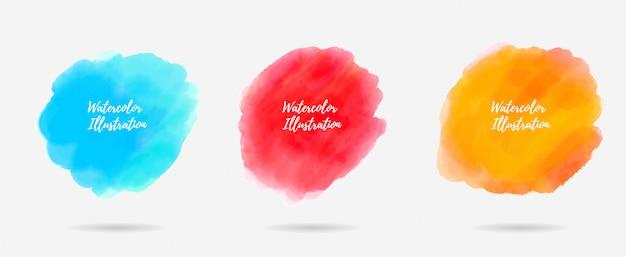 Water kleur splash collectie
