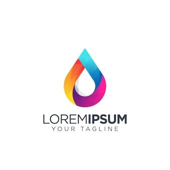 Water kleurrijk logo