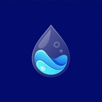 Water logo ontwerp