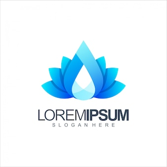 Water lotus logo