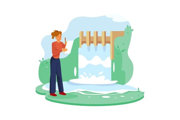 Water resource illustratie concept