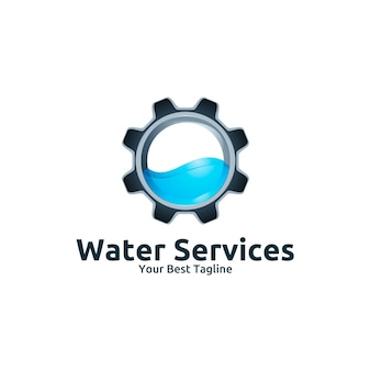 Water services logo template