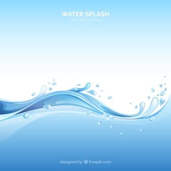 Water splash achtergrond in realistische stijl