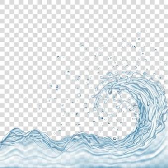 Water splash en druppels geïsoleerd