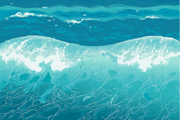Water splash handgetekende vectorillustratie