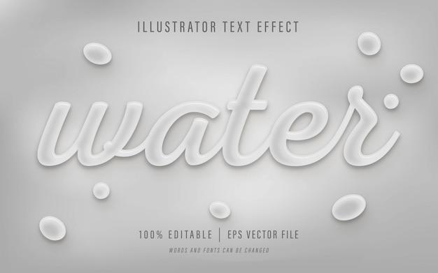 Water teksteffect - bewerkbaar teksteffect