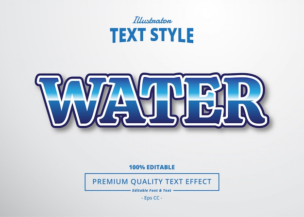 Water teksteffect