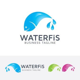 Water vis logo sjabloon