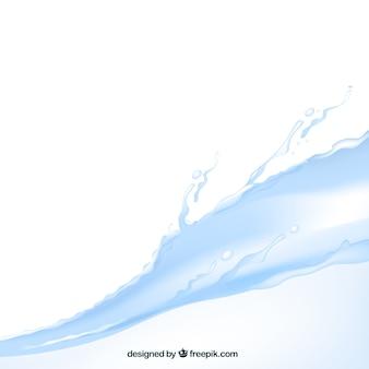 Waterachtergrond in realistische stijl