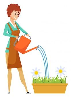 Waterbloemen, bloesem in bloempot, hobby