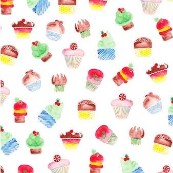 Watercake cupcakes pattern
