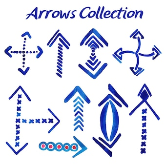 Watercolor arrows collection