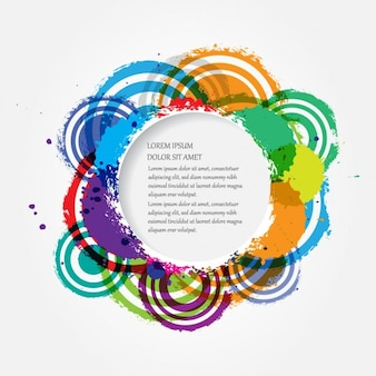 Watercolor cirkelkader