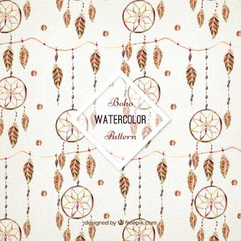 Watercolor dreamcatchers patroon