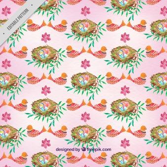 Watercolor easter egg patroon