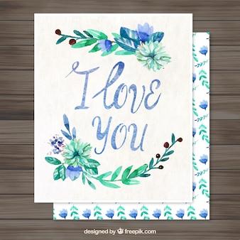 Watercolor floral love letter