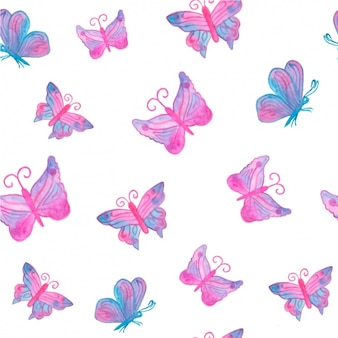 Watercolor vlinders patroon ontwerp