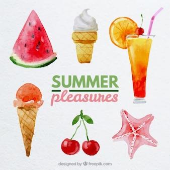 Watercolor zomer genoegens