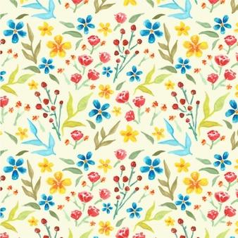 Watercolored bloemen achtergrond