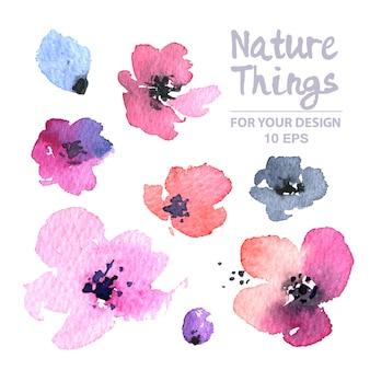Watercolour bloemen collectie