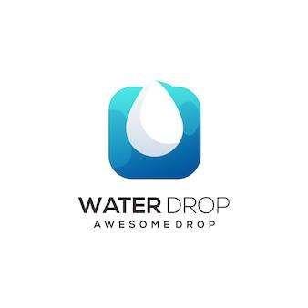 Waterdruppel logo afbeelding kleurrijke abstract