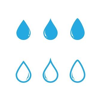 Waterdruppel logo afbeeldingen set