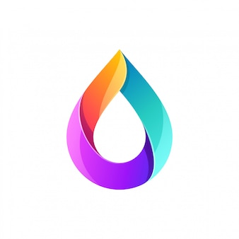 Waterdruppel logo ontwerp full colour