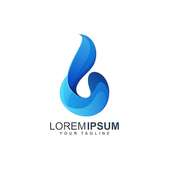 Waterdruppel logo ontwerp