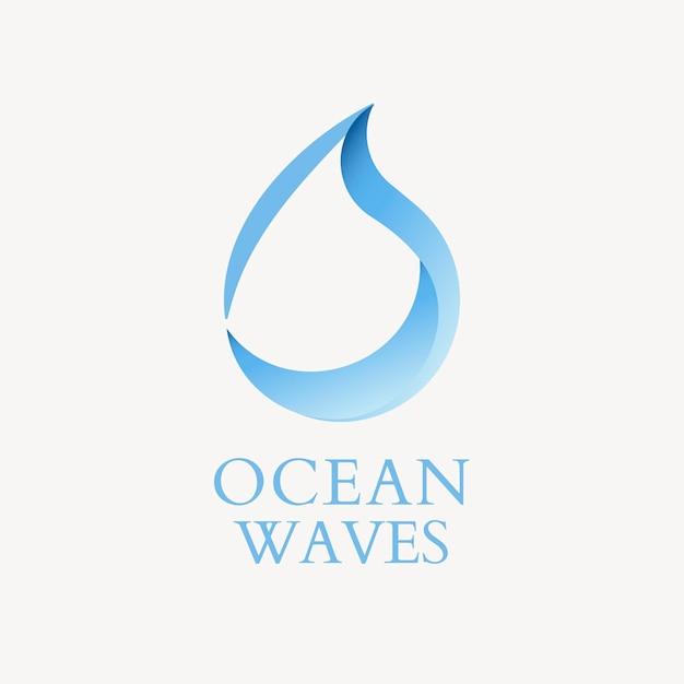 Waterdruppel logo sjabloon, water business, geanimeerde grafische vector