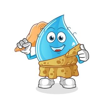 Waterdruppel oude cartoon