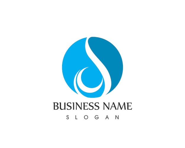 Waterdruppel pictogram logo vector ontwerpsjabloon
