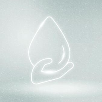 Waterdruppel pictogram vector milieubehoud symbool Gratis Vector