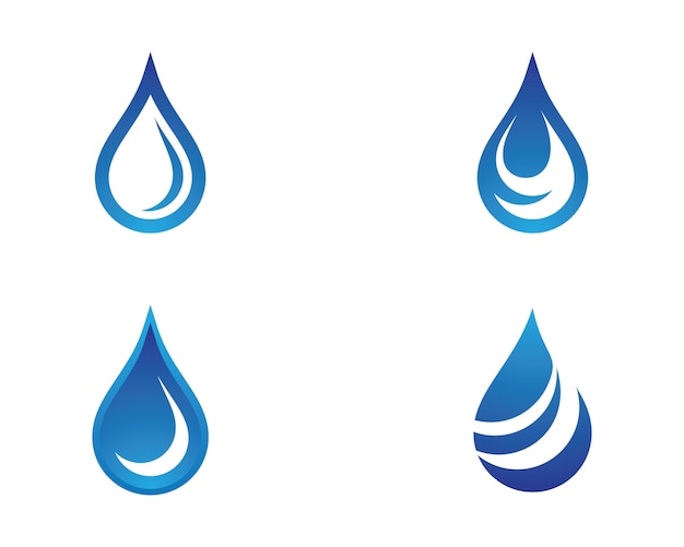 Waterdruppel symbool illustratie