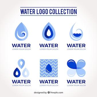 Wateremblemencollectie voor bedrijven in vlakke stijl